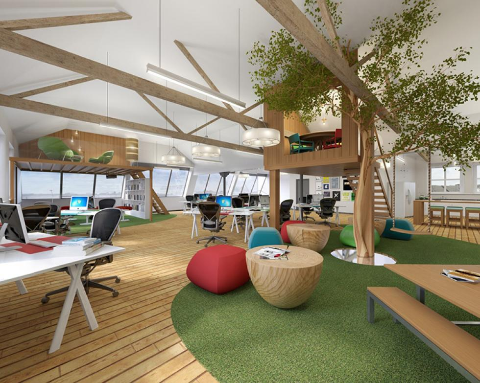 we recently worked on the design of a creative studio space in manchester for bruntwood complete with a tree house meeting room and break out areas with a